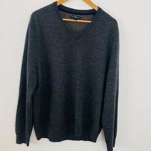 CLUB ROOM V neck Merino Wool pullover sweater